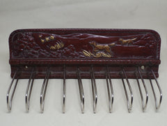 1940s Hand Carved Hunting Dogs Tie Rack