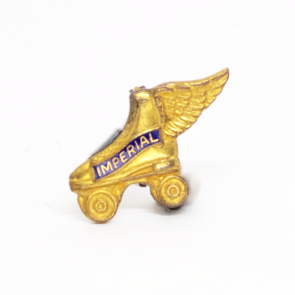 Winged Imperial Roller Skates Pin