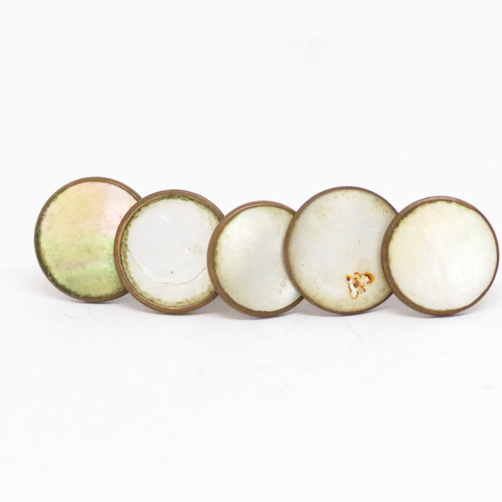 Set of Five Mother of Pearl Shirt Studs