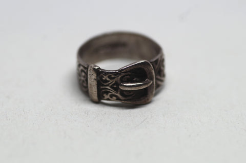 Sterling Silver Belt Ring