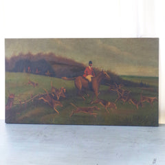 Mid-Century Fox Hunt Painting