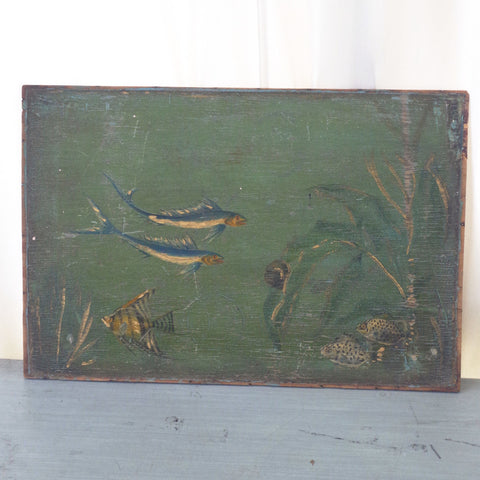 Folk Art Aquatic Scene Painting