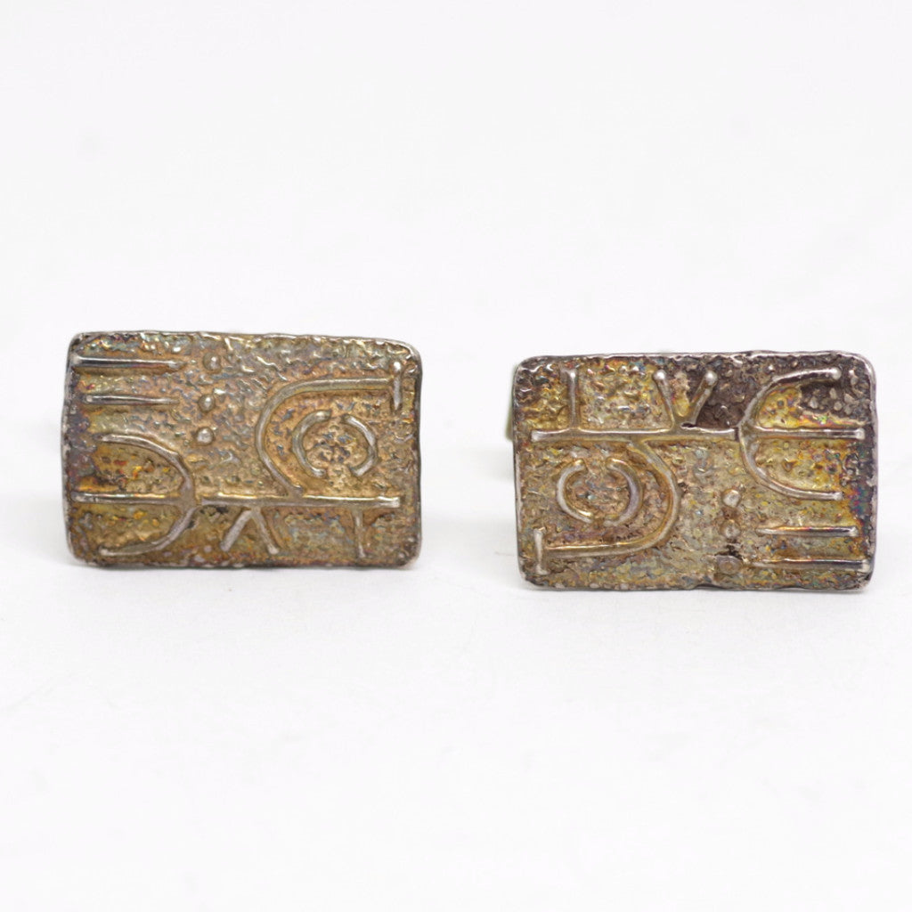 Sterling Geoglyph Cufflinks