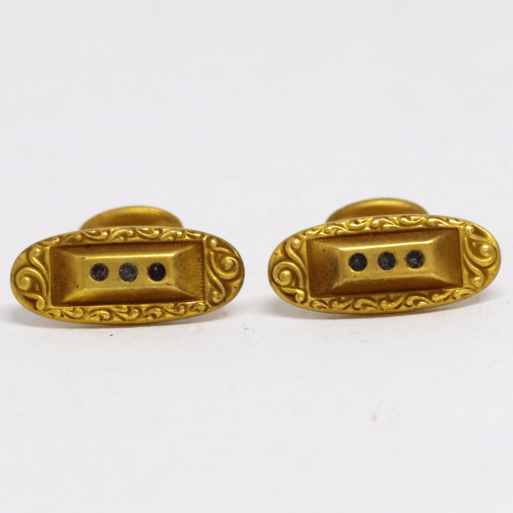 Ornate Gold Filled Cufflinks
