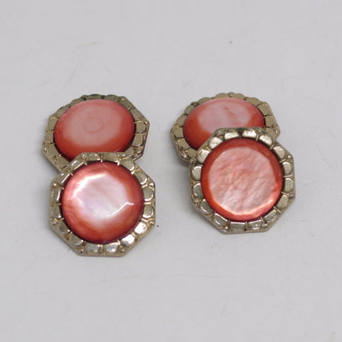 Pink Gem Double Sided Cufflinks
