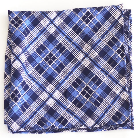 Fun Blue on Blue Rayon Pocket Square by Put This On