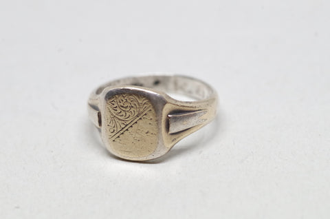 Gold on Sterling Silver Paisley Motif Ring