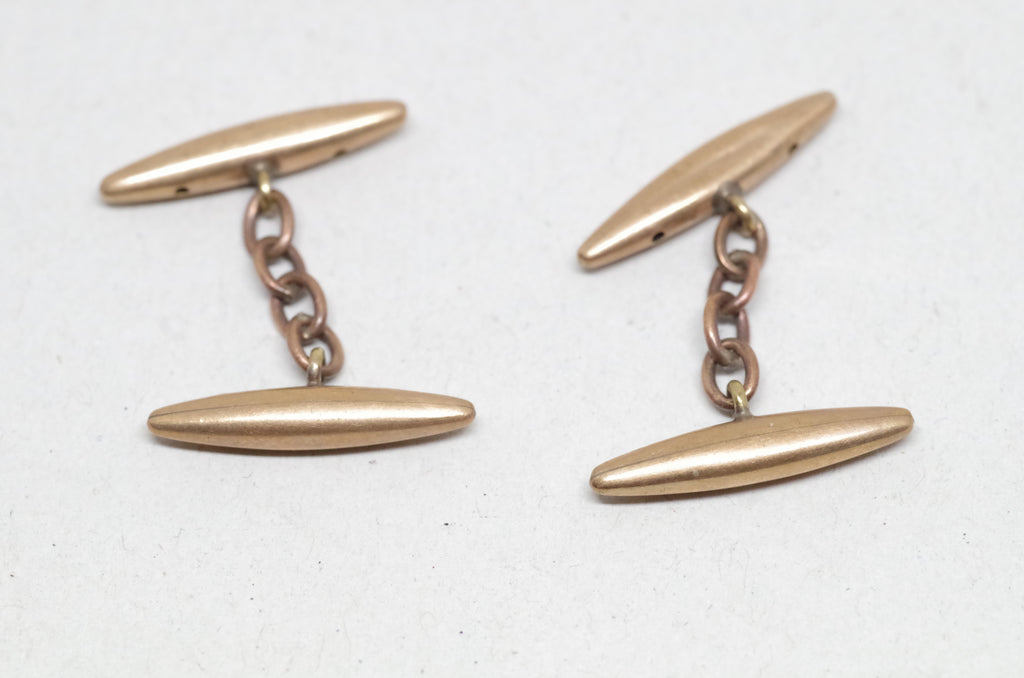 Bronze Chain and Bar Cufflinks