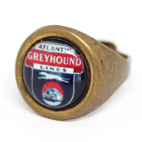 Art Deco Atlantic Greyhound Ring