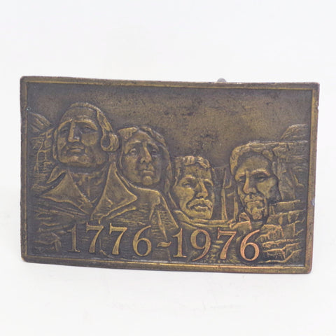 Bicentennial Mount Rushmore Belt Buckle