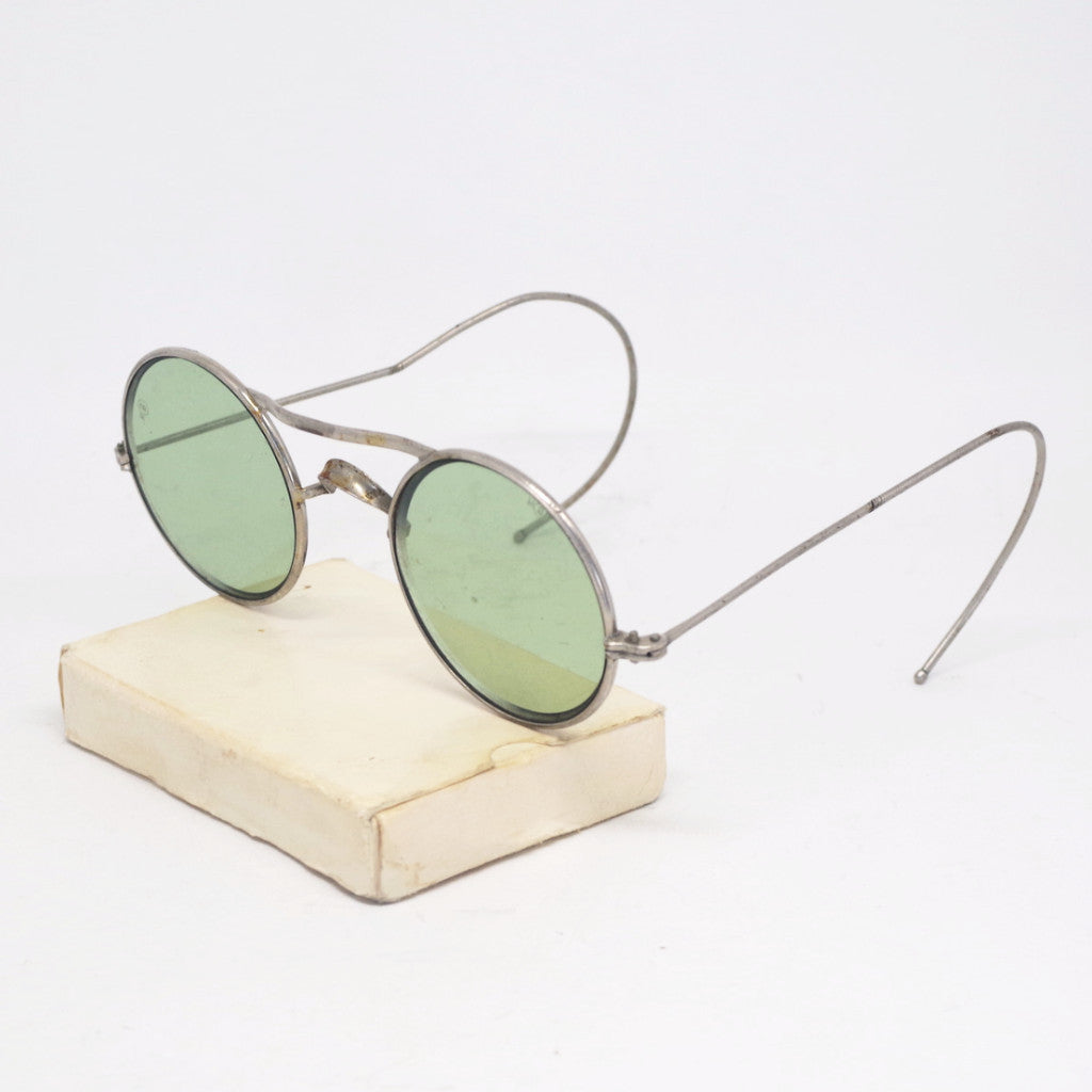 Early 20th Century Round Lens Ear Wrap Sunglasses
