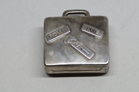 Miniature Sterling Silver Luggage