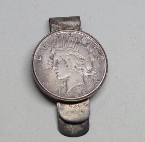 1923 Silver Dollar Money Clip