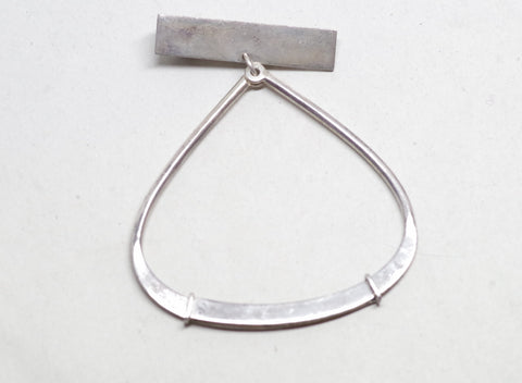 Mexican Sterling Silver Teardrop Loop Tie Bar