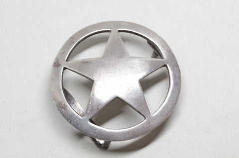 Sterling Silver Star Belt Buckle