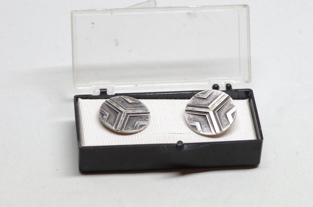 Trisected Sterling Silver Cufflinks