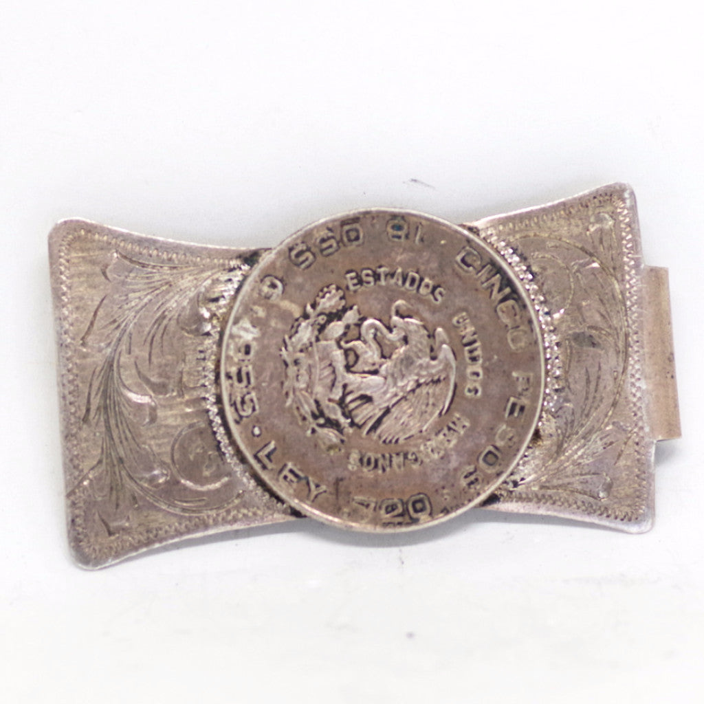 Sterling Silver Mexican Peso Money Clip