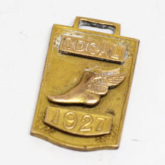 "1927 ""SDCal"" Broad Jump Charm / Fob"