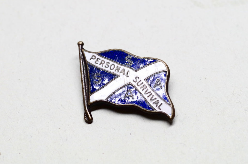 "Enameled Scottish SSAA ""Personal Survival"" Flag Pin"