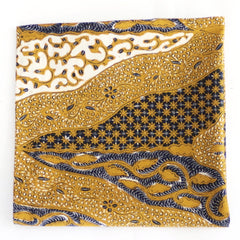 Luxurious Golden Floral Cotton Pocket Square by Put This On