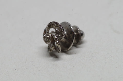 Sterling Silver Wreath Tie Pin