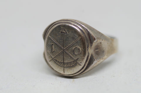 Sterling Silver Cross and Arrow Ring