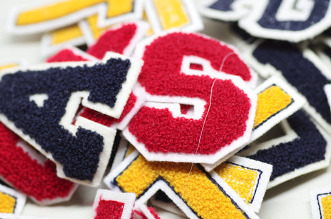 "Chenille ""USA"" (and ""T"") Letter Patches"