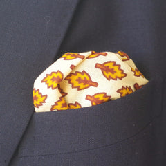 Fallen Yellow Leaf Cotton Pocket Square by Put This On
