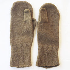 Vintage Olive Wool Mittens w/ Extra Pointer Finger