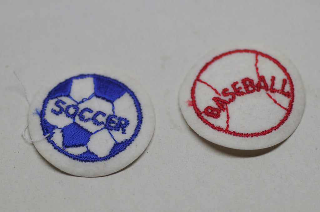 Soccer and Baseball Patches
