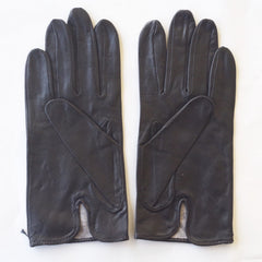 Vintage Black Leather Gloves (Size 8 1/2)