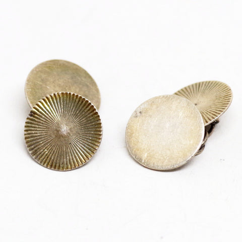 Sterling Silver Two Pattern Cufflinks