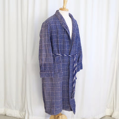 Vintage Wool Checked Blanket Robe