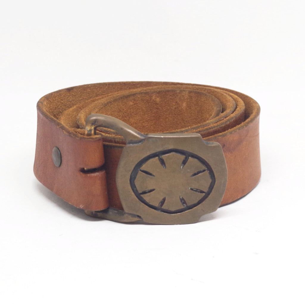 Eight Pointed Brass Buckled Belt- 40/42
