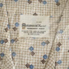 NOS 1960s Blue and Brown Pajamas - Size Medium / 40