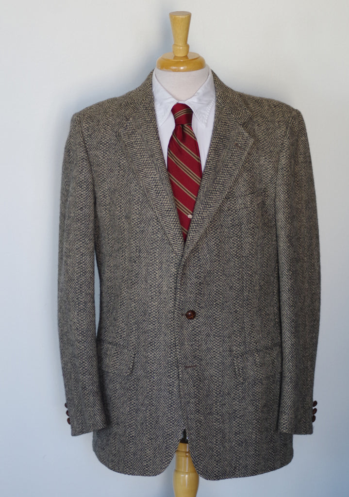 Herrinbone Bayne-Williams Harris Tweed Sport Coat 42L