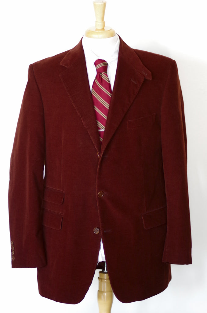 Brooks Brothers Loro Piana Corduroy Chinstrap Sport Coat