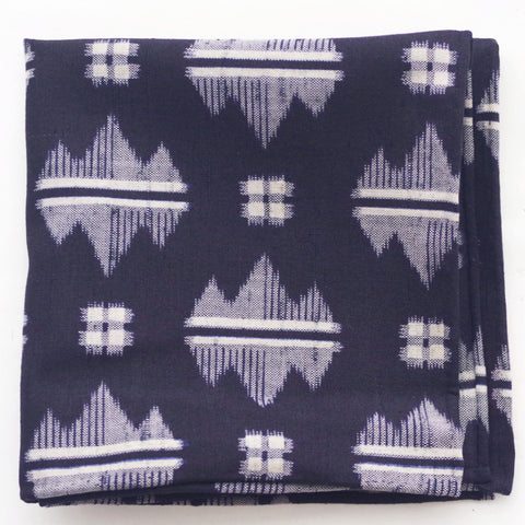 Splashy Kasuri Indigo Cotton Pocket Square by Put This On