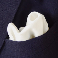 Plain & Simple White Cotton Pocket Square by Put This On