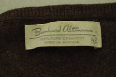 Brown Bernhard Altmann Scottish Cashmere Sweater