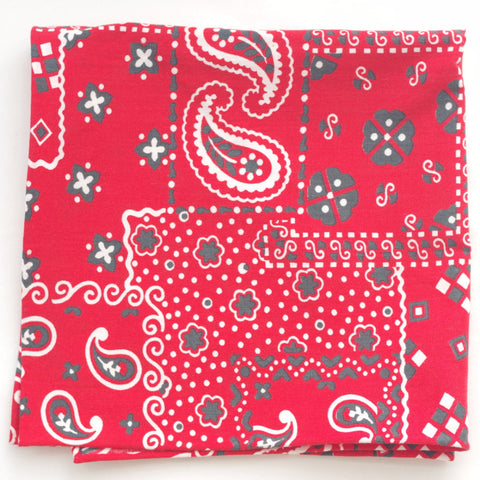 Bandana Print Cotton Pocket Square by Put This On