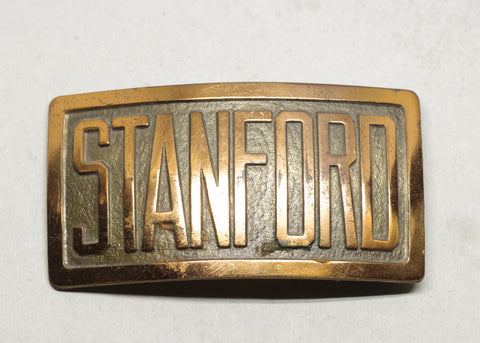 1930s Brass Stanford Belt Buckle