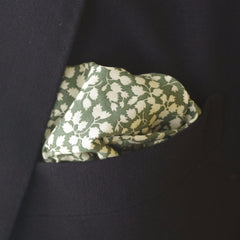 Springy Green Leaf Cotton Pocket Square by Put This On