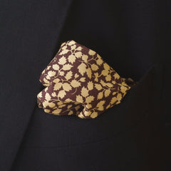 Dusky Purple Leaf Pattern Cotton Pocket Square by Put This On