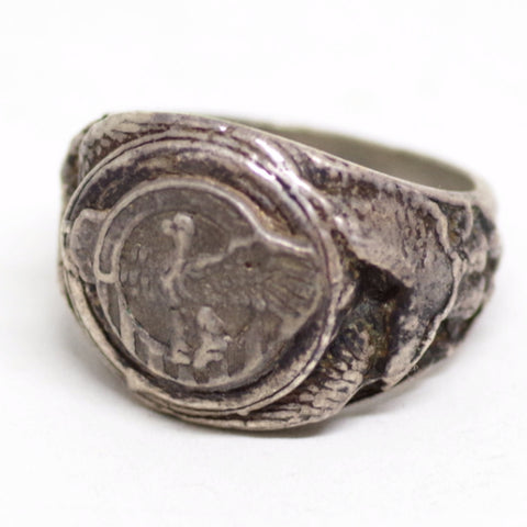 "WW2-Era Honorable Service ""Ruptured Duck"" Ring"