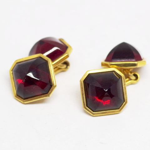 Red Cabochon Cufflinks