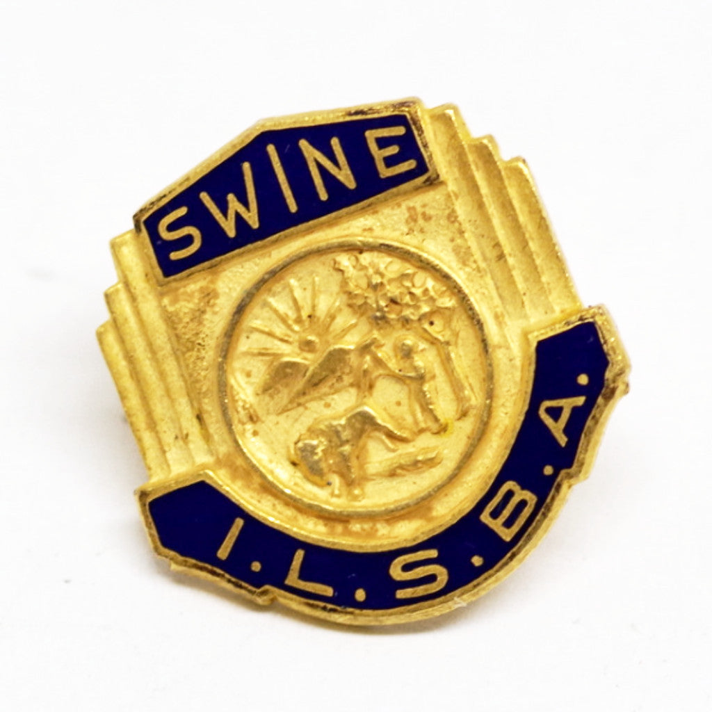 "Vintage""Swine"" Screw Back Pin"