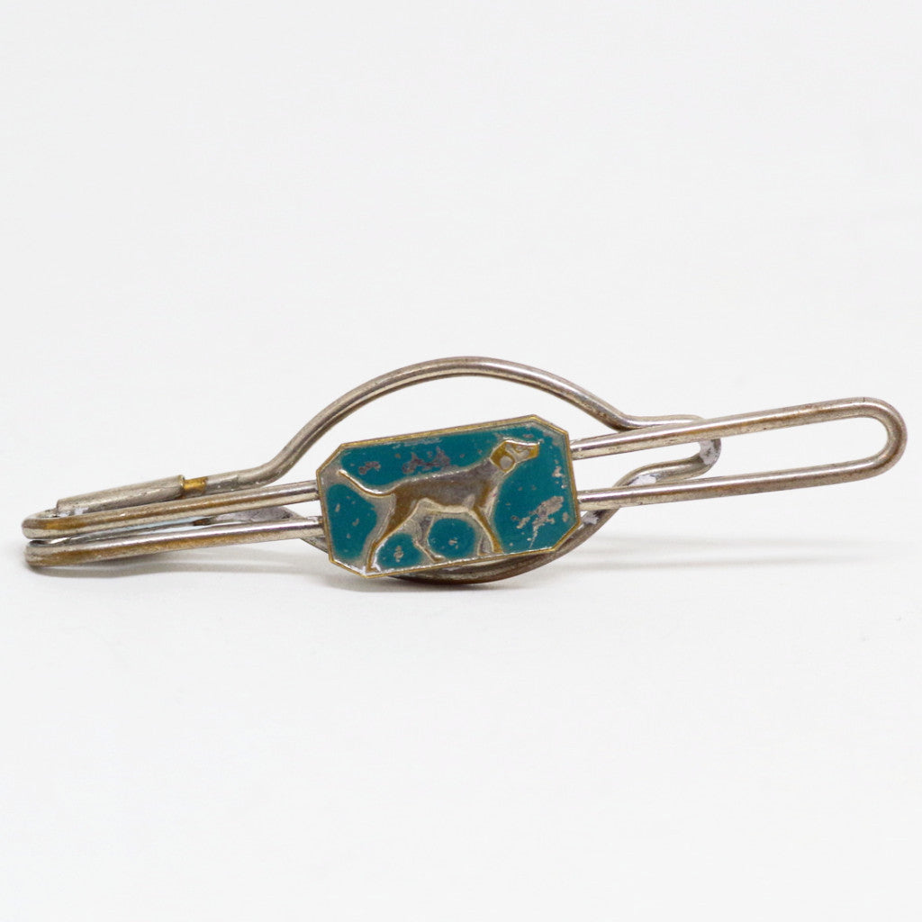 Turquoise Dog Tie Bar