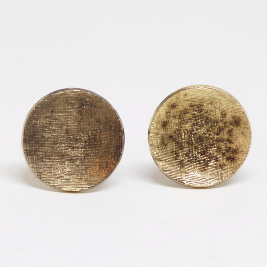 Very Fine Etched Sterling Cufflinks