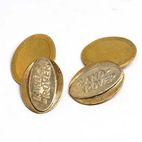 9ct Gold on Silver Land Rover Cufflinks